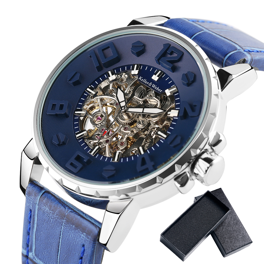 Men's Watches Automatic Luxury Band-Clock Keller Casual Weber Water-Resistant Water-Resistant
