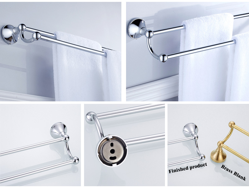 chrome double towel bar 2