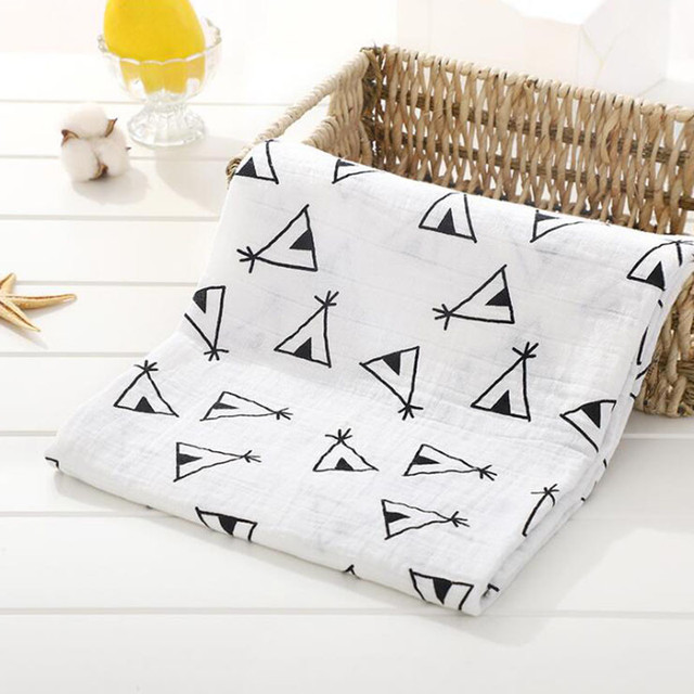 Baby Blanket Muslin Blankets Stroller Bedding Organic Cotton Soft Newborn Baby Bath Towel Swaddle Photography Props Baby Wrap For All (0-3 years) Nursery Shop by Age Swaddle Blankets
