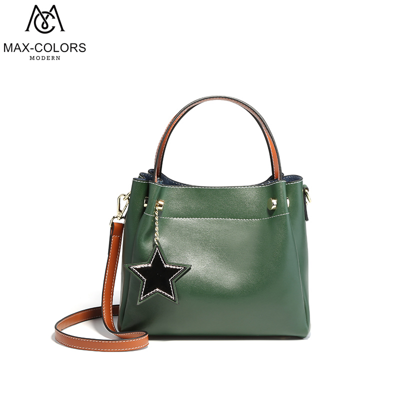 MC High Quality Cow Leather Women Bag Shoulder Bags Solid Big Handbag Large Capacity Top-handle Bags Fashion New Arrivals