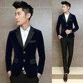 3 Color Suit jacket  Men  2016 New blazer masculino slim fit  fashion casual wedding suit men Plus size  brand clothing  D015