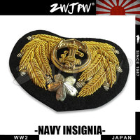 ZWJP WW2 WWII Naval hat badge Crown Gold Wire Royal Navy Cap Badge cap insignia