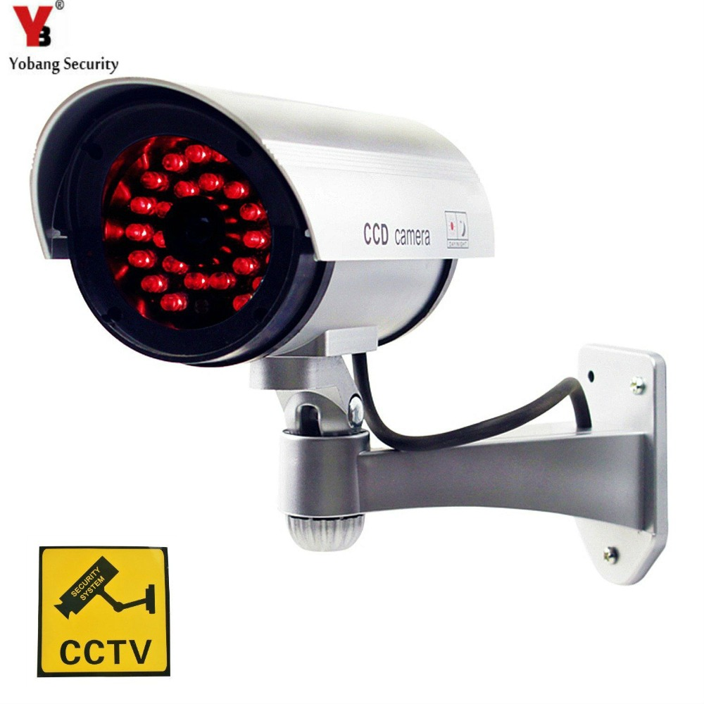 YobangSecurity CCTV Security Dummy/Fake Camera Outdoor Bullet Camera with 30 Units Illuminating LEDs bullet camera tube camera headset holder with varied size in diameter