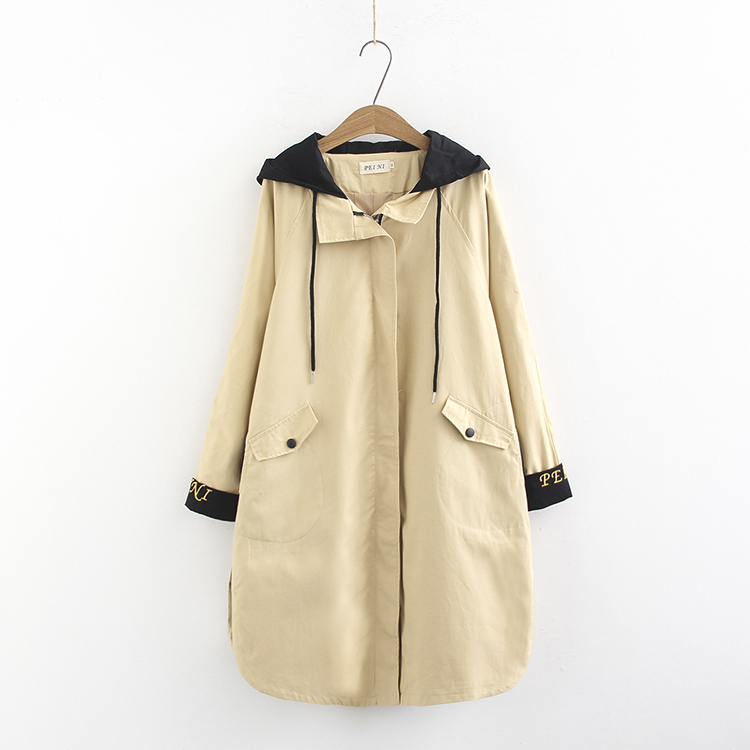 Women 2019 New Long Coats Autumn Winter Women Big Size Plus Size Loose Female   Trench   Casual Oversize hooded