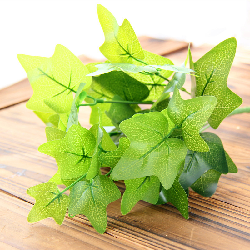 Green leaves artificial flower for wedding decoration for Artificial leaves for decoration