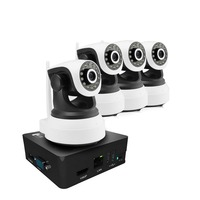4CH 960P 1.3MP IP Camera PTZ System Pan Rotate CCTV Outdoor Security HD Video Network P2P Surveillance 8CH Mini NVR Camera kit