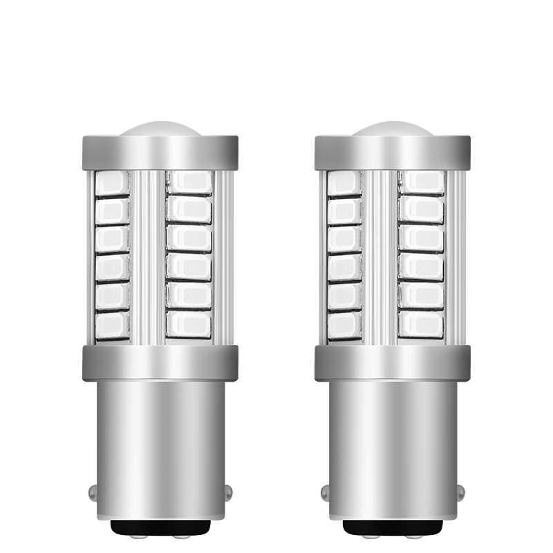 2 uds alta calidad 1157 BAY15D P21/5 W 33 5630 SMD 5730 LED COCHE luz trasera de freno lámparas de señal 33SMD bombillas de marcha atrás traseras de coche