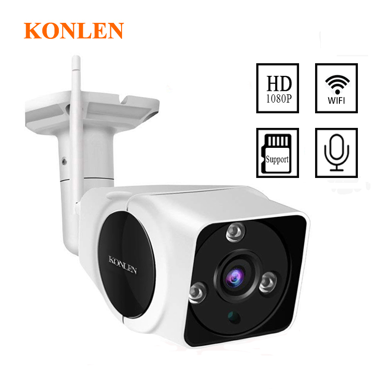Konlen 1080P Full HD CCTV IP Camera Outdoor WIFI 2MP Camhi Security Surveillance Night Vision Two
