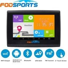 2017 nueva fodsports android gps navigator 5.0 pulgadas mtk8127 wifi 512 m ram 8 gb flash resistente al agua ipx5 motocicleta y navegación del gps del coche
