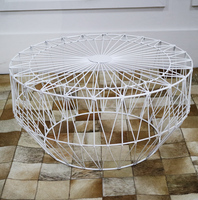 Tea Table Simple And Modern Solid Iron Small Round Table Living Room Small Creative Small Coffee