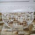 Chá de mesa simples e moderno ferro maciço pequena sala de estar pequena criativo pequena mesa de café mesa redonda