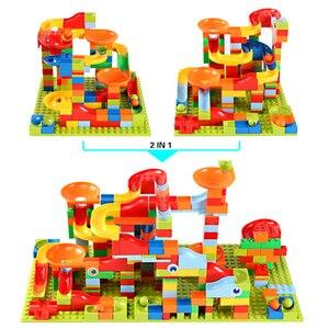 Image 4 - 165 330 stücke Kleine Größe Marmor Rennen Run Stadt Blöcke Track Bausteine ABS Trichter Rutsche Montieren Ziegel Spielzeug für Kinder