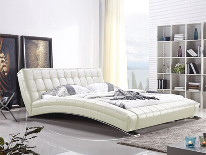 king bed furniture modern bedroom furniture with long sheet stainless steel legchina mainland - Steel Frame Bed