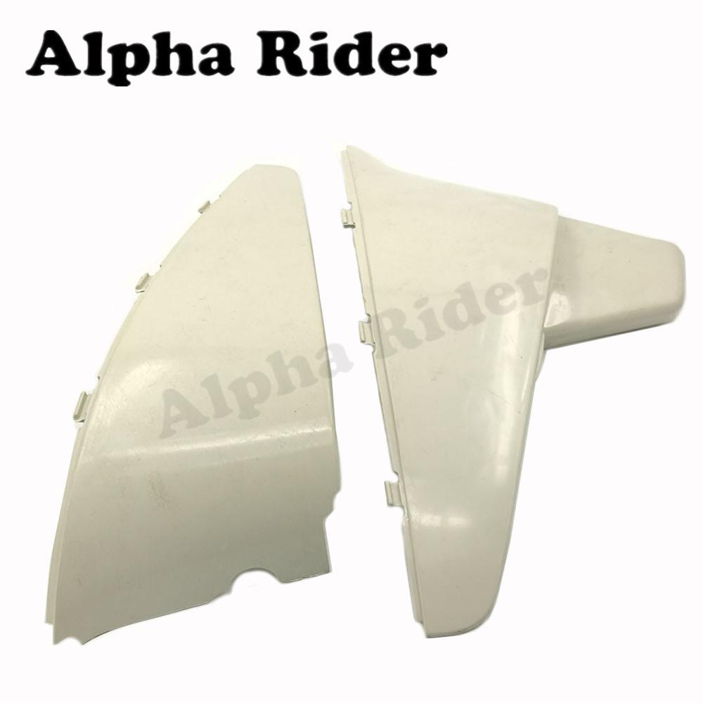 ABS Plastic Non-Paint Battery Side Cover Body Fairing Guard Protector for Honda Shadow VT600 VLX600 88-99 Steed VLX VT 400 88-07 for 88 98 honda shadow vt600 vlx 600 steed 400 motorcycle abs plastic frame neck cover cowl wire covers side frame guard black