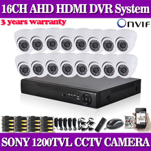16CH CCTV System 960H HDMI DVR 16CH CCTV Security Camera System 1200tvl indoor Day Night IR Camera Kit Video Surveillance System