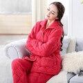 Hot Adultos Pijamas Traje de Invierno de Las Mujeres Conjuntos de Pijamas Pijamas de Las Mujeres Adultos de Disfraces de Dibujos Animados ropa de Dormir de Punto de algodón envío gratis