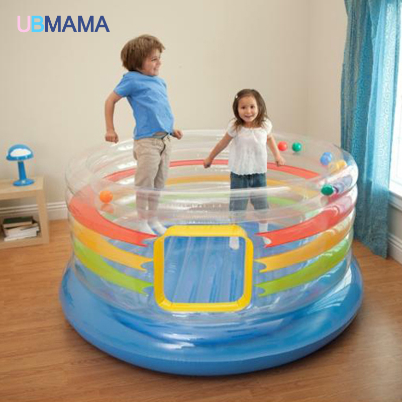 Selfless Children Inflatable Toy Sofa Round Type Trampoline Indoor Outdoor Playground Play Ball Pool Thick Pvc Material Activity & Gear