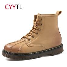 CYYTL пояса из натуральной кожи для мужчин работы Детская безопасность сапоги и ботинки для девочек Sheel головы мужской зимний мотоциклетные ботинки Erkek Bot Zapatos
