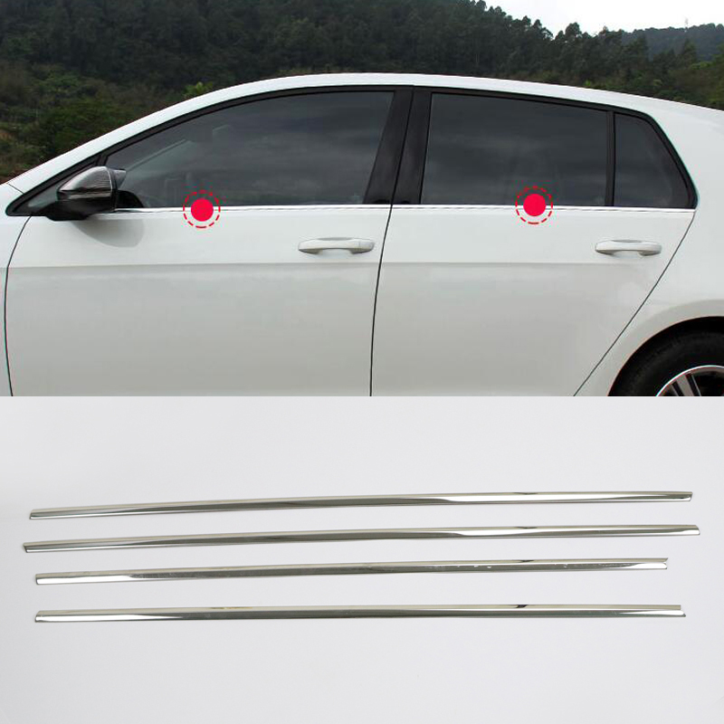 6pcs For Mitsubishi Outlander 2014-2018 Stainless Bottom Window Frame Sill Trim