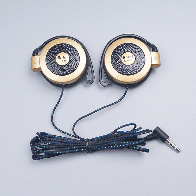 S520 General Purpose Earphone Ear Hook Headphone Headset with Microphone for iPhone Samsung Xiaomi All Mobile Phone