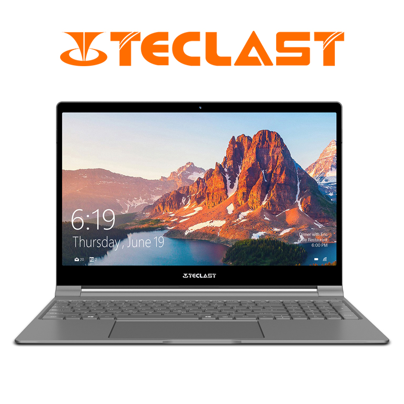 Teclast F15 Ordinateur Portable 15.6 pouces 1920x1080 Windows 10 OS Intel N4100 Quad Core 8 GO de RAM 256 GB SSD HDMI Portable 6000 mAh