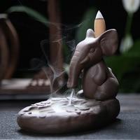 Quemador De Incienso Shipping Sand Ceramic Elephant Us Dollar Reverse Fragrance Burner Craft Gifts Home Appliances Wholesale