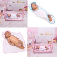 LUCKDOLL Bath Towel Holding blanket Fit 18 Inch American&43 CM Baby Doll Clothes Accessorie