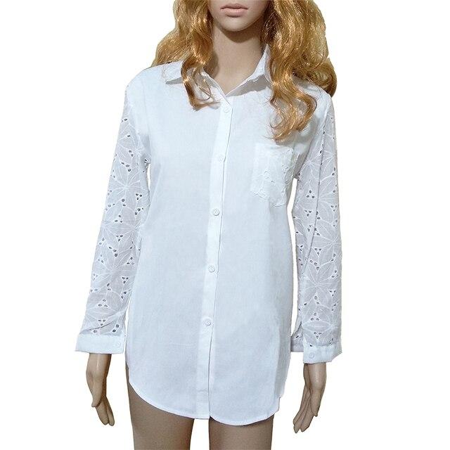 51e99ee2e5 Camisa Branca Feminina 2019 Moda verão Encabeça Nova Chegada Plus Size  Mulheres Blusa Escritório Túnica Das Senhoras Vestuário