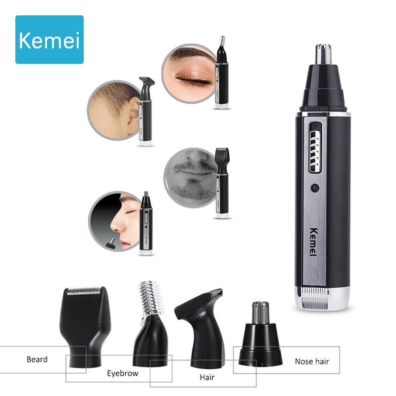 Kemei Fashion Electric Shaving Nose Hair Trimmer Safe Face Care Shaving Trimmer For Nose Trimer Eyebrow Shaping Knife   5