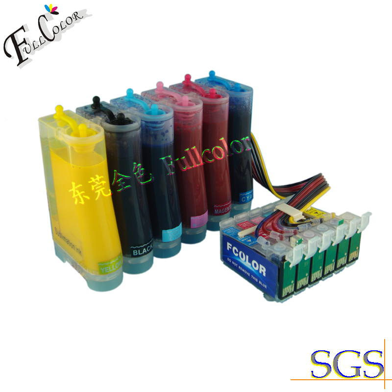 Free shipping! Dye Sublimation CISS With Transfer Ink For Epson 1390 Inkjet Printer 85N Ink System free shiping r2400 sublimation ink ciss with transfer ink and arc chip for 8color cis r2400