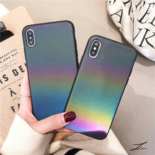 New Gradient For Iphone 6 6s 7 8P X Xs Xr Max Holographic Colorful Reflective Phone Case
