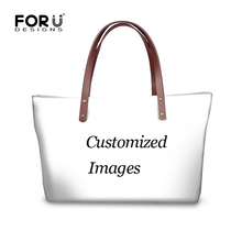 FORUDESIGNS Customize Image or Logo Women Large Handbags High Quality Fashion Beach Crossbody Bags for Ladies Female Bolsa Mujer