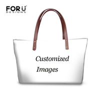 FORUDESIGNS Customize Image or Logo Women Large Handbags High Quality Fashion Beach Crossbody Bags for Ladies Female Bolsa Mujer