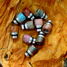 Sailing electronic cigarette wood hybrid drip tips Canada import wood assorted colors for 510 thread atomizer(China)