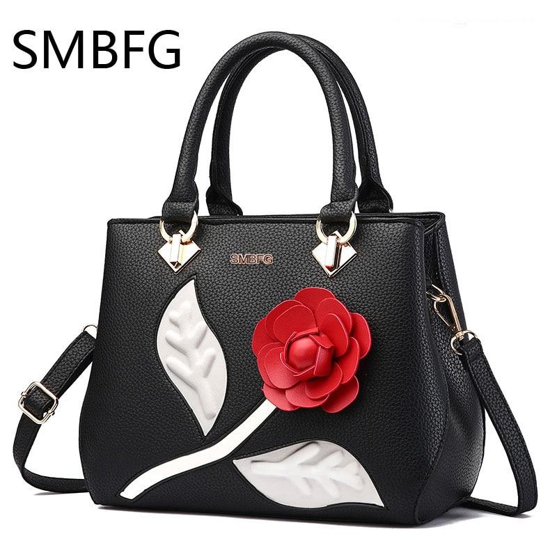 frauen leder handtaschen weibliche süße damenmode umhängetasche - Handtaschen