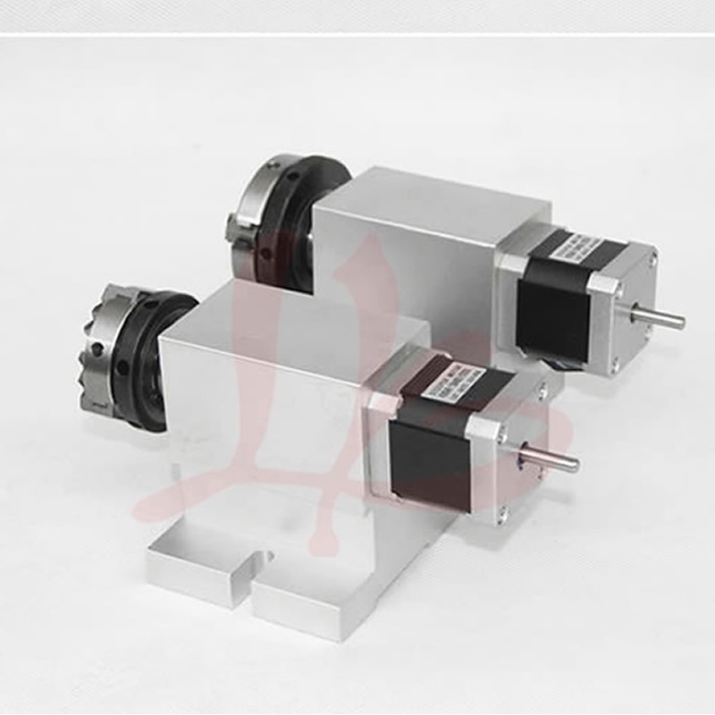 Harmonic Drive Reducer CNC 4th Axis 50mm 65mm 3 Jaw Chuck Rotary Axis CNC Dividing Head