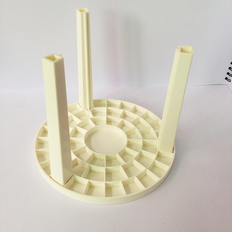 White Porous Inserted DIY Assembly Knock Down Plastic Pen Brush Organization Box Desk Storage Art Student Necessary