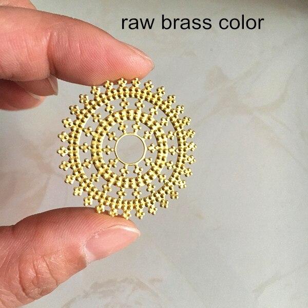 12 pcs of  brass filigree charm pendant 35x50mm-raw brass