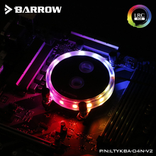 Barrow CPU Water Block use for AMD RYZEN AM3 AM3+ AM4 Socket Acrylic + Copper Radiator Block + RGB Light Support connect AURA цена
