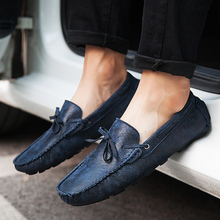 Men Leather Shoes Casual Slip-On Loafers Fashion Sneakers Pigskin Mens Drive Italy Loafer Flat