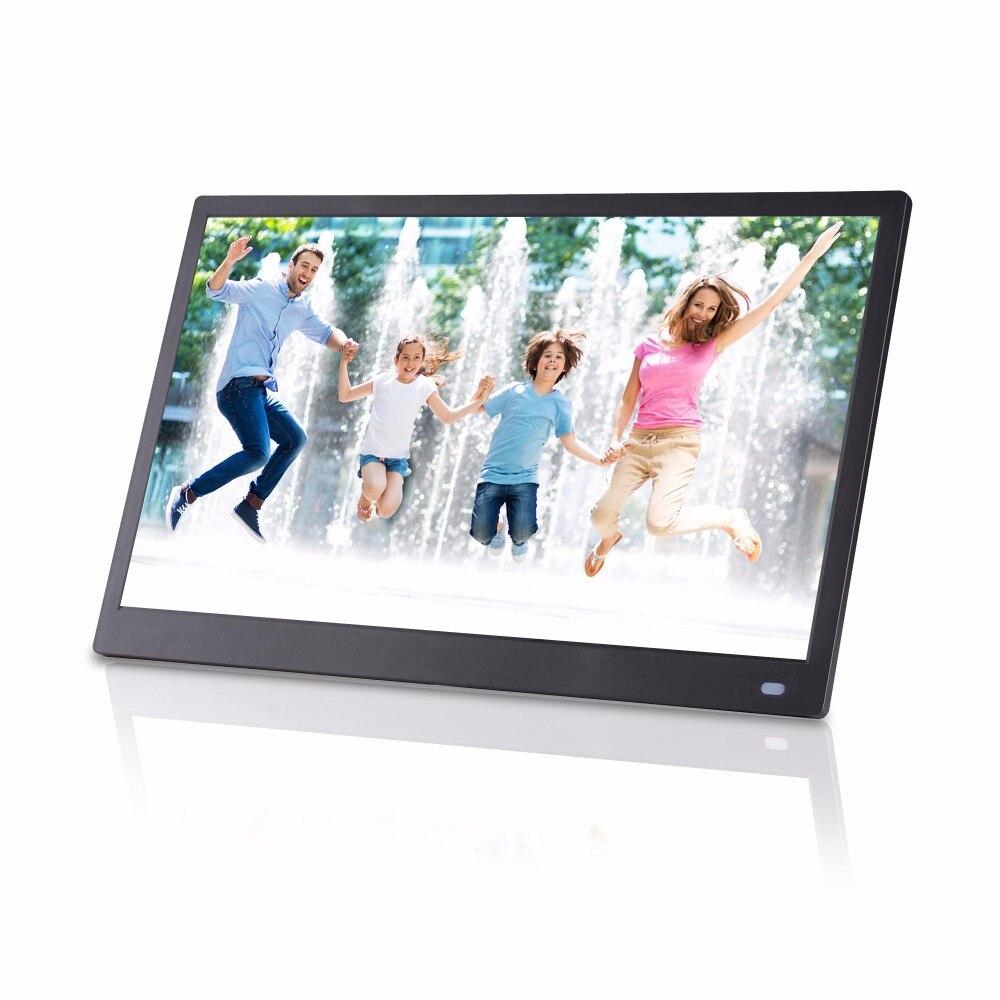 15. 6 дюймов ips HD полный угол обзора Поддержка вертикального и горизонтального видео фото плеер Цифровая фоторамка цифровой альбом