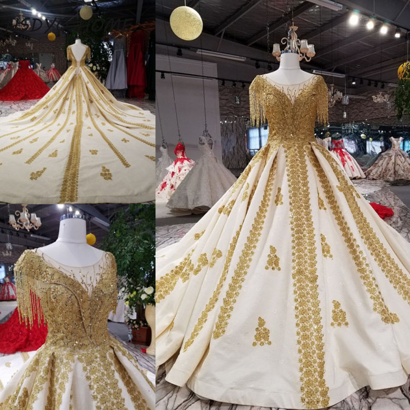 Luxury   Evening   Prom   dresses   2018 New Design Ball gown Amazing Vestidos Elegant   Evening     dress   Party Gown