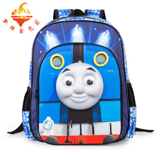 2016 Spinal Care Kids Bags students BooK Bags Machila For Kids Leather Backpack For School Thomas & Friend Kids Book Backpack