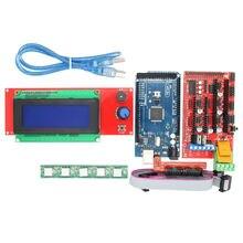 ANYCUBIC 1 шт. ПЛАТФОРМЫ 1.4 Контроллер 1 шт. Мега 2560 R3 5 шт. A4988 шагового Модуль Драйвера + 1 шт. 2004 ЖК управления для 3D комплект Принтера