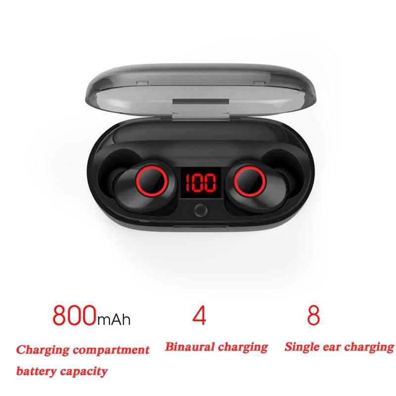 Bluetooth 5.0 écouteur avec Microphone Mini sans fil écouteurs stéréo casque haute qualité sonore TWS Bluetooth écouteurs YZ211 - 2