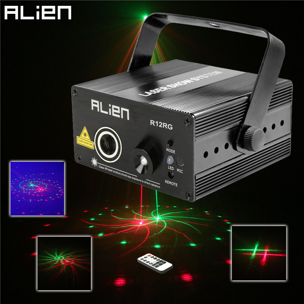 Mini RG 12 Patterns Laser Projector LED Blue Light Stage Lighting Effect DJ Disco Party Home Xmas Professional Equipment Lights led laser stage lighting 24 or 96 patterns rg mini red green laser projector 3w blue light effect show for dj disco party lights
