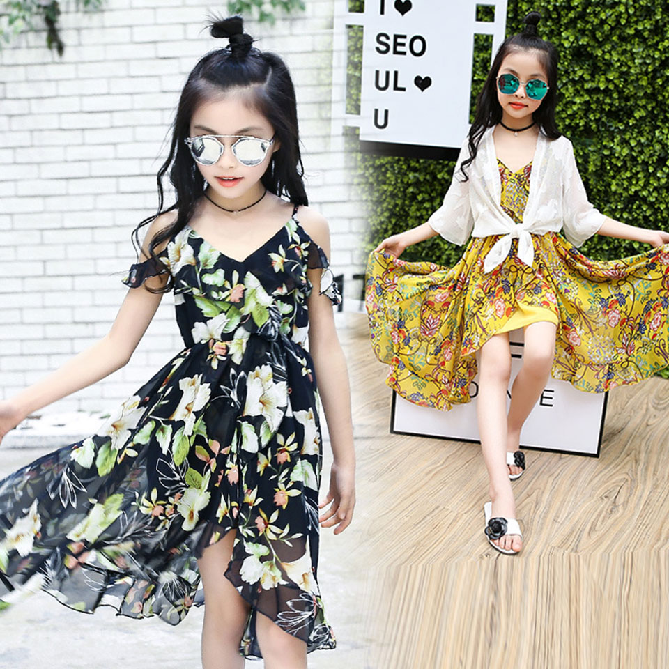 Baby Girls Dress 2018 New Summer Girl Clothing Long-Sleeve Princess Dress Kids Clothes Colorful Dresses For 120-160Cm Girls new girls dress spring children clothing infant princess dresses for girls baby girl clothes costume for kids