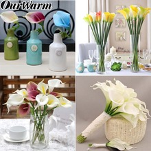 OurWarm 7 Colors Calla Lily Real Touch Artificial Flower Wreaths Wedding Home Table Decoration Cheap Fake Decorative Flowers DIY