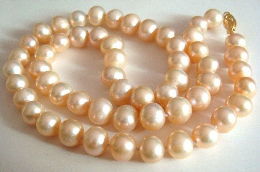 10-11mm natural south sea pink pearl necklace 18 inch 925silver gold clasp huge elegant 15 mm freshwater black pearl necklace 18 inch 925silver clasp