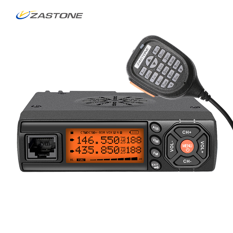 Zastone Z218 Mobile Walkie Talkie 10 km 25W Dual Band VHF/UHF 136-174mhz 400-470mhz 10KM Car Radio Communicator Transceiver